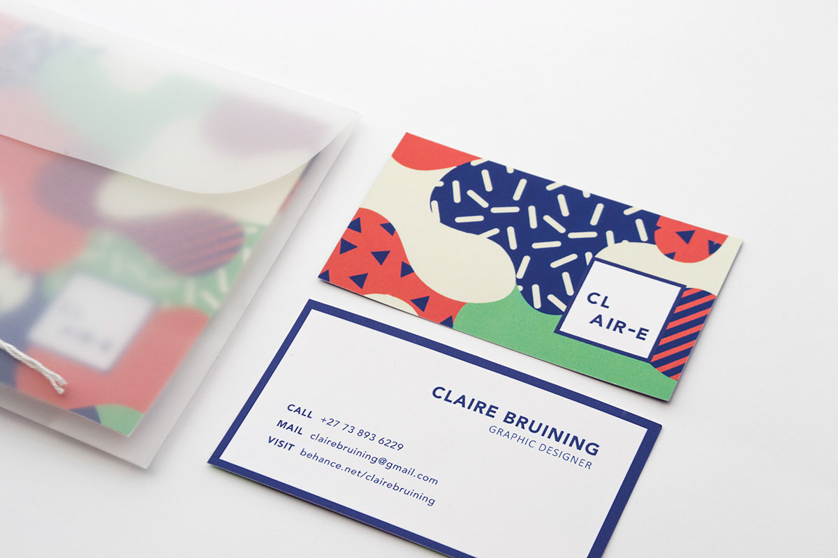 Claire Bruining Personal Branding and Branding Collaterals