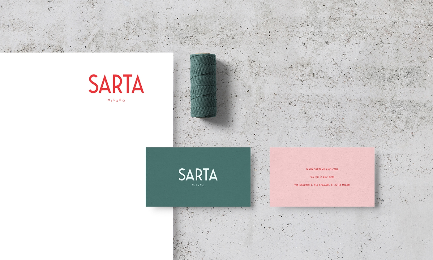 Sarta Milano Branding, UI/UX and Packaging