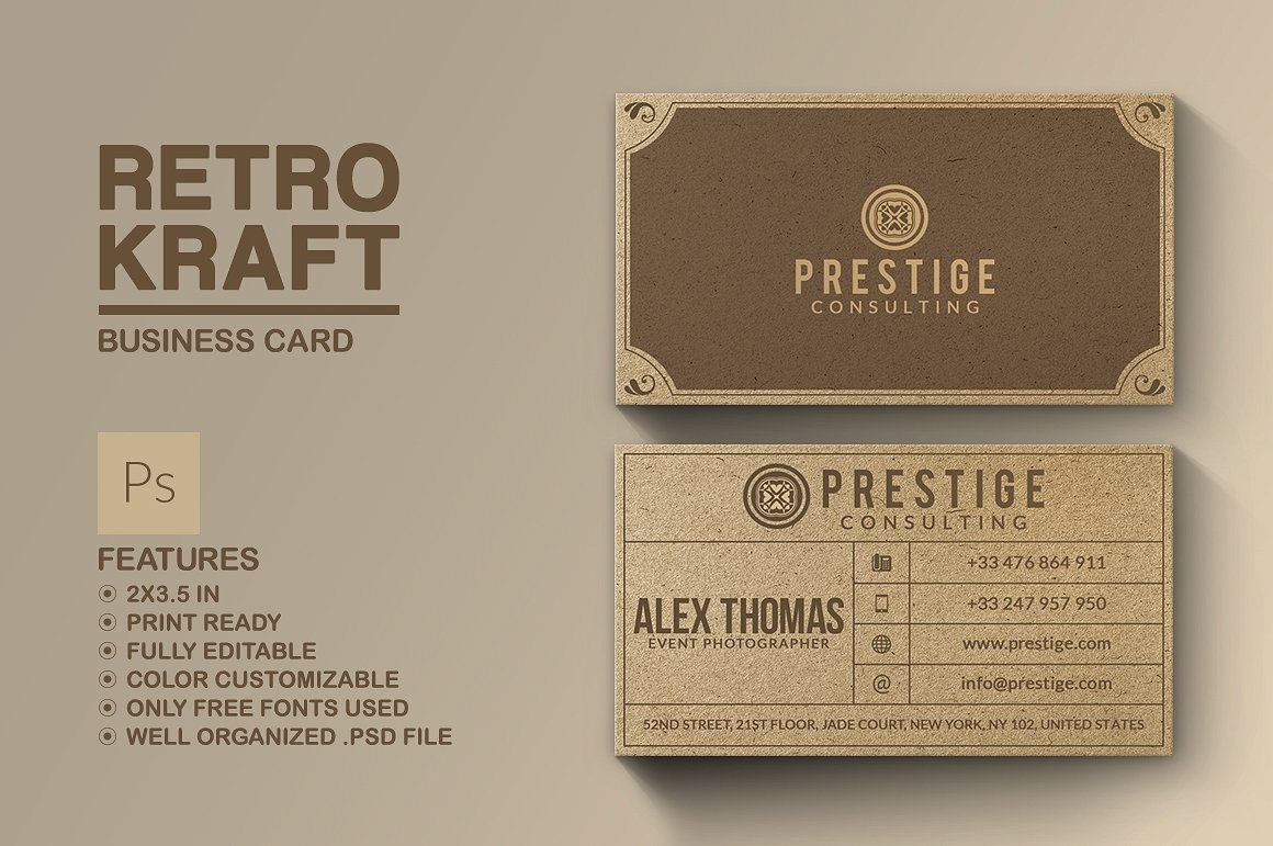 14+ Vintage Business Card Designs - Free Editable PSD, AI, Vector ...
