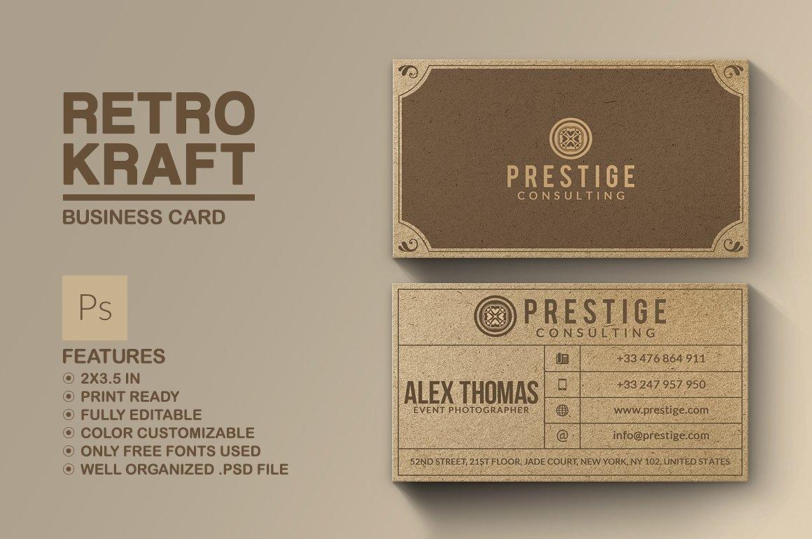 Funky Retro Business Card Designs Motif - Business Card Ideas ...