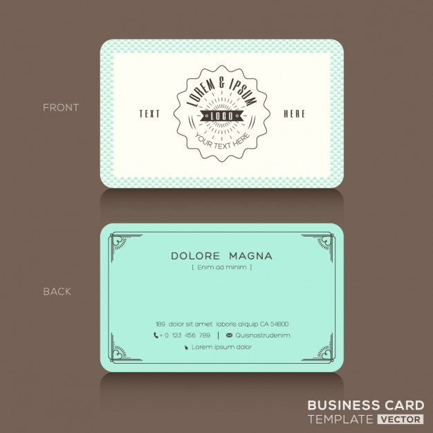 14 vintage business card designs free editable psd ai vector fine outlines on vintage business card in white and turqoise color cheaphphosting Choice Image