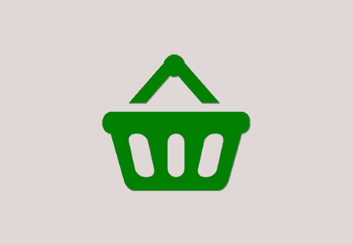 Green Shopping Basket Icon Design