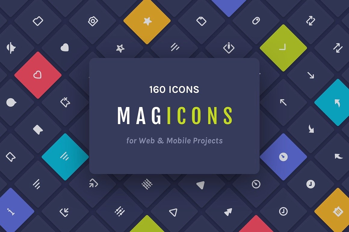 Magicons: 160 Icons for Web & Mobile Projects