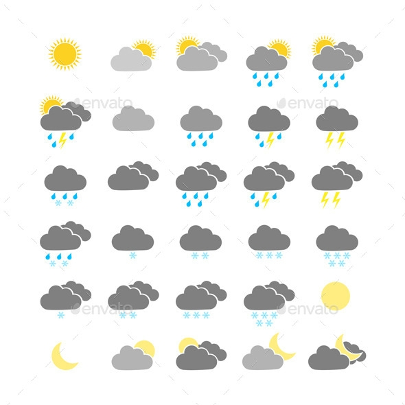 colorful weather icons preview
