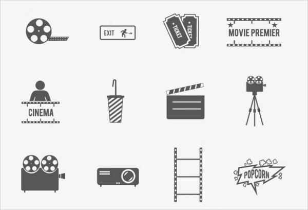 movie Cinima Icon Design