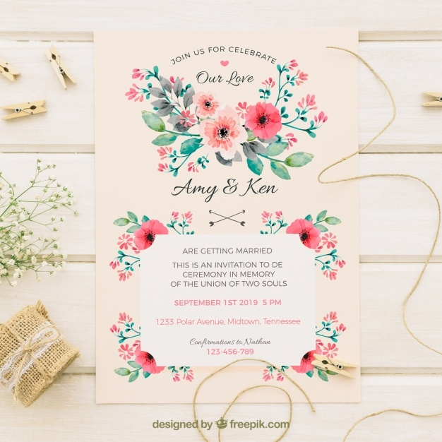 vintage-wedding-invitation-with-watercolor-flowers_23-2147670654
