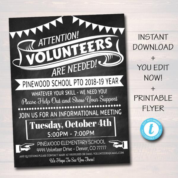 Editable Volunteer Recruitment Flyer