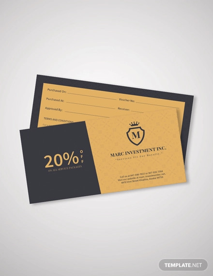 business discount coupon template