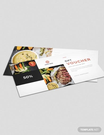 food gift voucher template