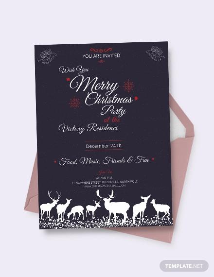 free chalkboard christmas invitation template