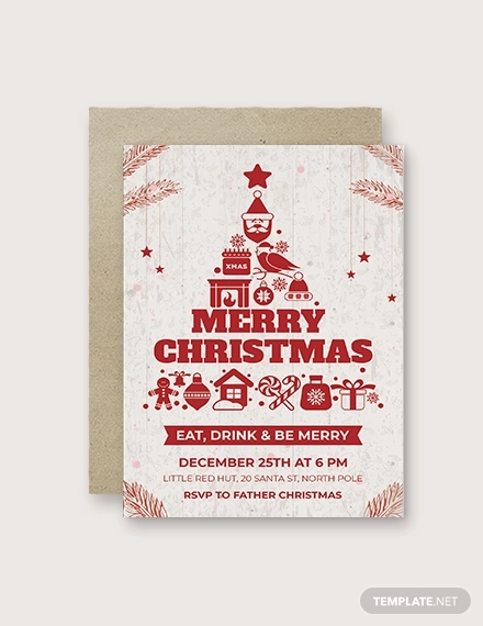 free creative christmas invitation template