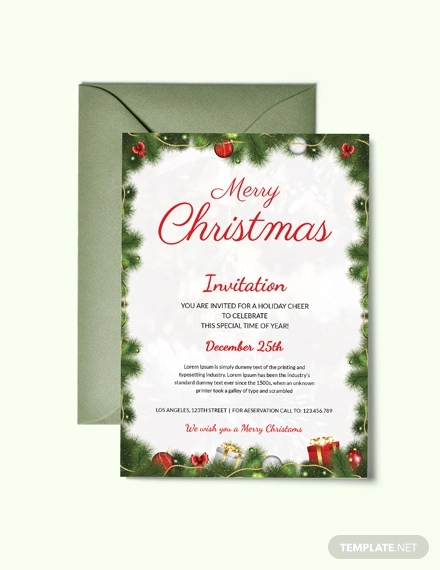 free simple christmas party invitation template