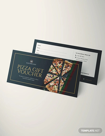 pizza voucher design