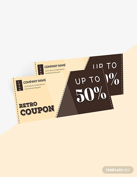 retro blank coupon template