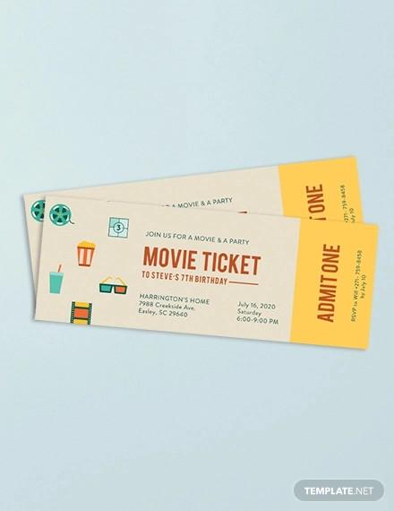 movie ticket invitation