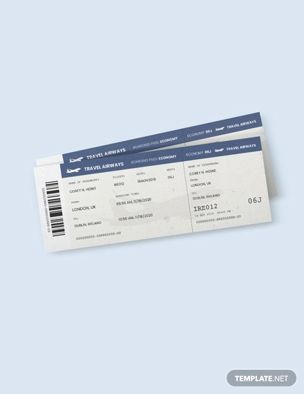 vintage travel ticket template