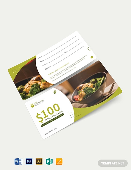 lunch food voucher template