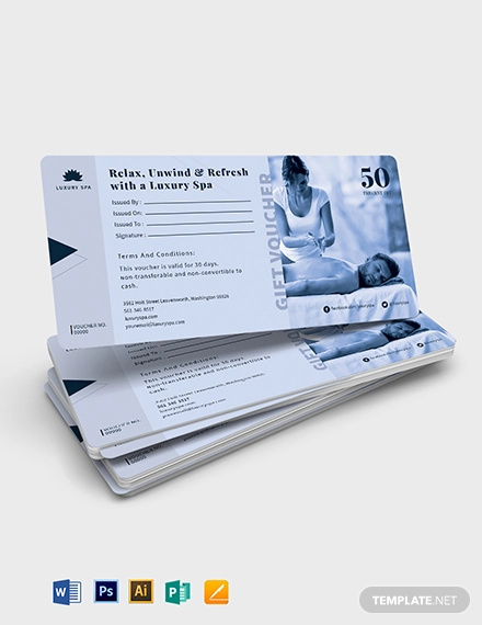 spa gift voucher for husband template